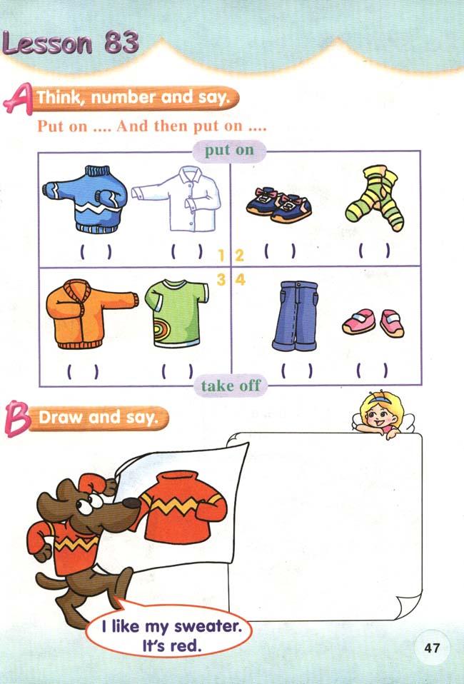 人教版新起点小学英语一年级下册 lesson83图片
