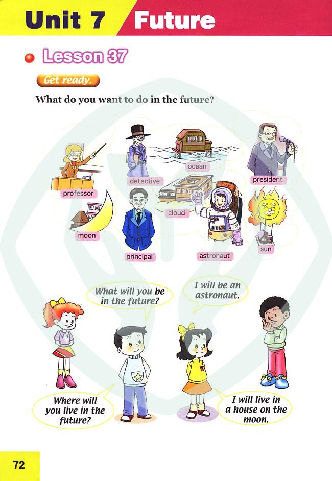 人教版新起点小学英语六年级上册 lesson37高清图片