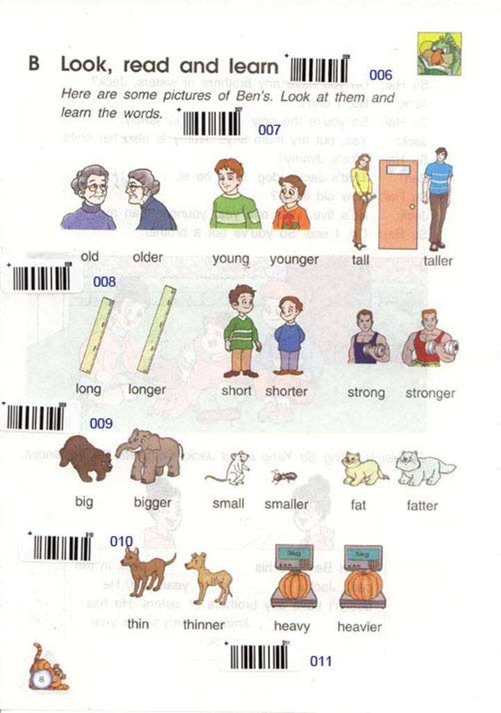 苏教版英语六年级下册课本――unit1 Who is younger?