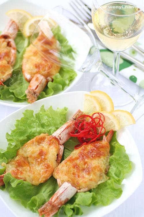 蒜蓉乳酪焗大虾