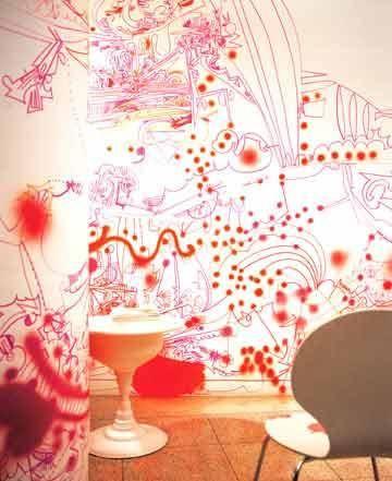 教你手绘墙画打造居家流动风景