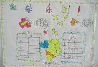 一年级手抄报:数学乐园