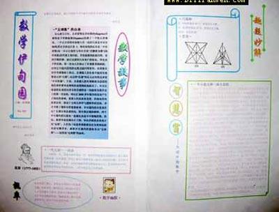 二年级数学手抄报:数学伊甸园