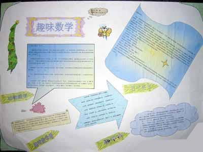 三年级手抄报:趣味数学故事