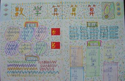 四年级手抄报:数学算算算