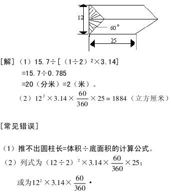 几何初步知识 圆柱和圆锥图片