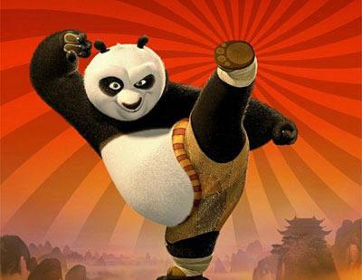 种子拼贴画熊猫