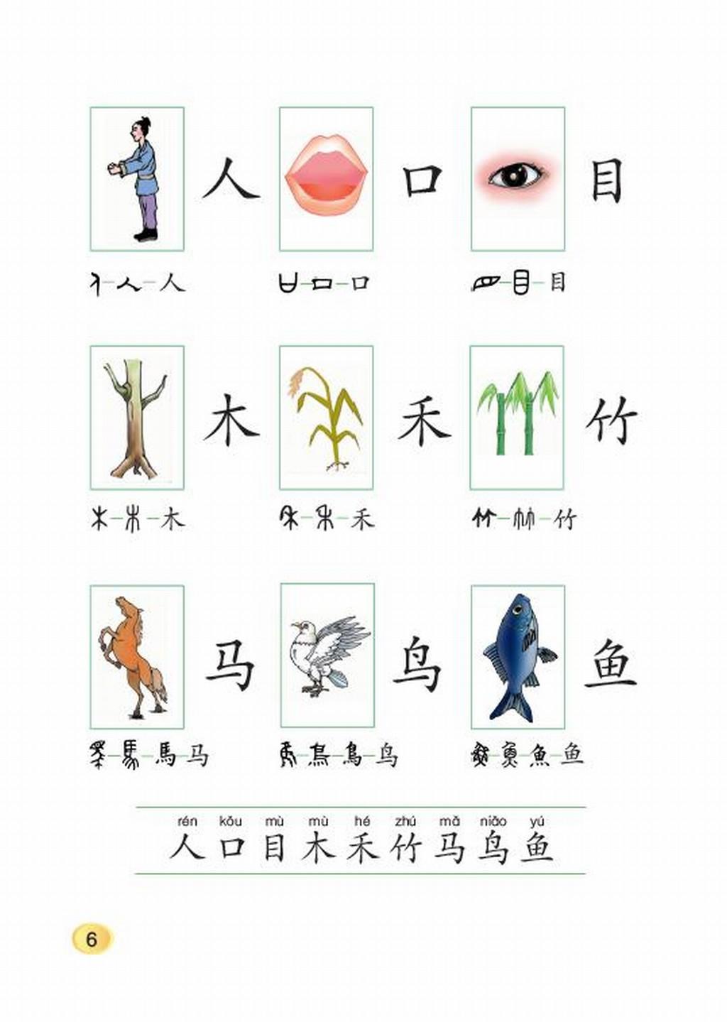 北师大版一年级上册语文 一 字与画