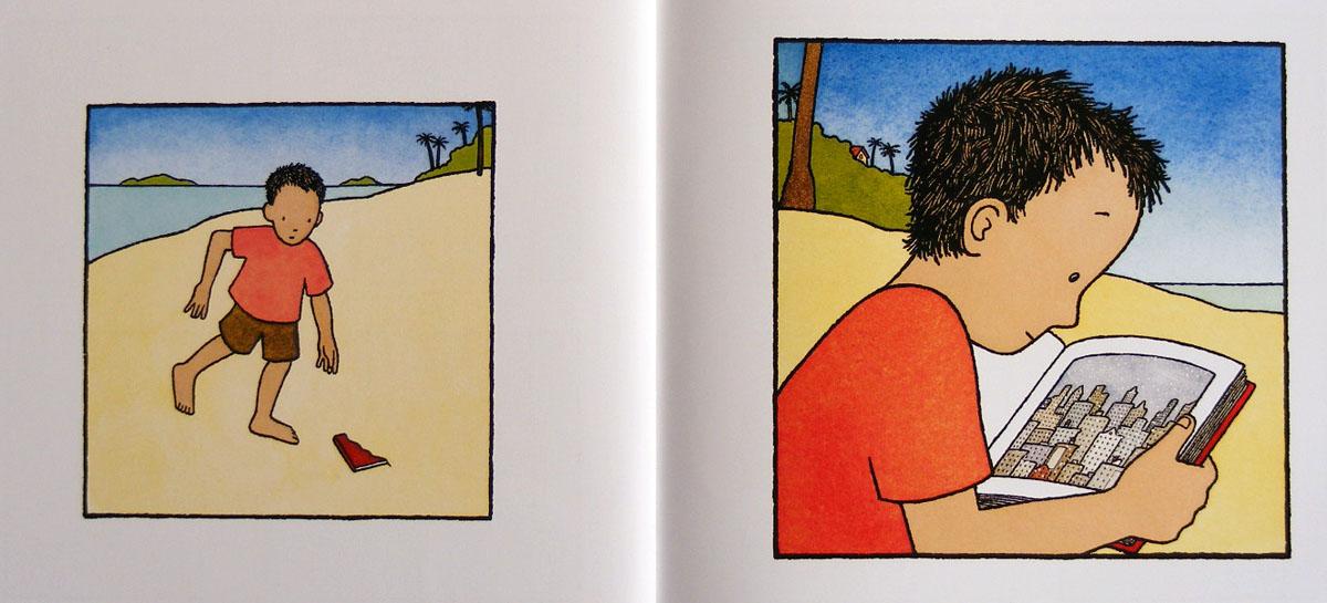 小红卡通简笔画
