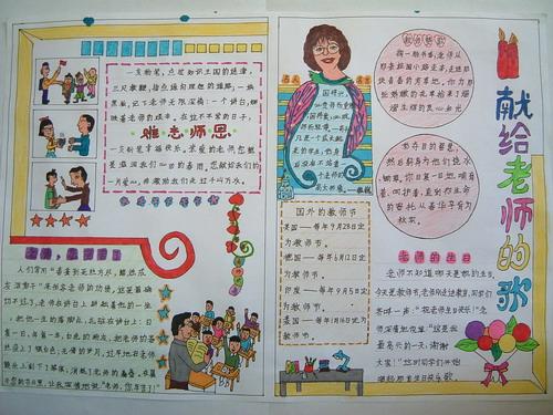 教师节手抄报大全(6)_教师节_中考网