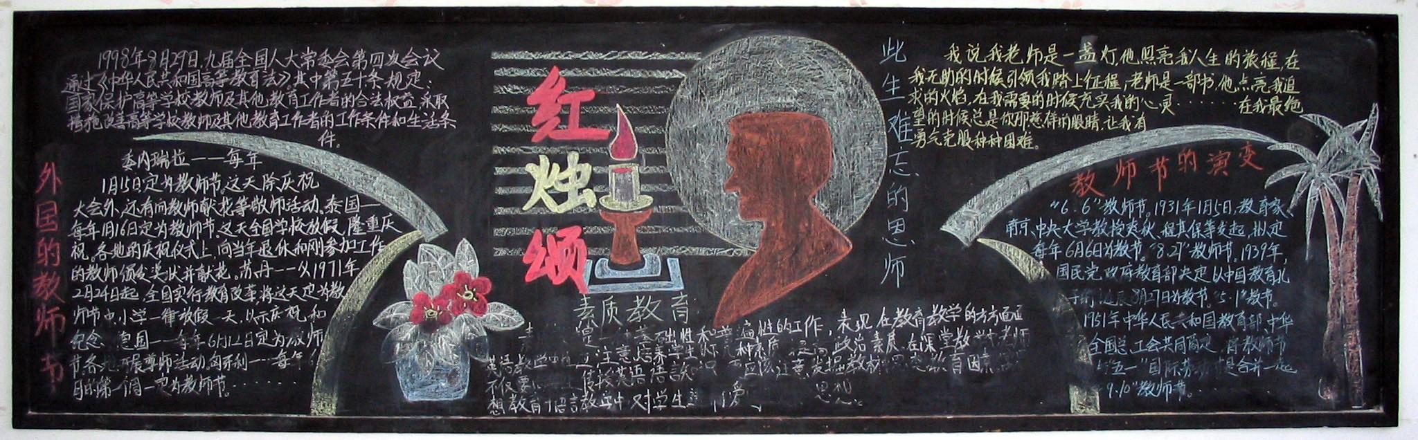 教师节黑板报(14)_20字