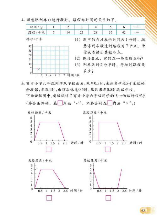 北师大版二年级数学下册总复习