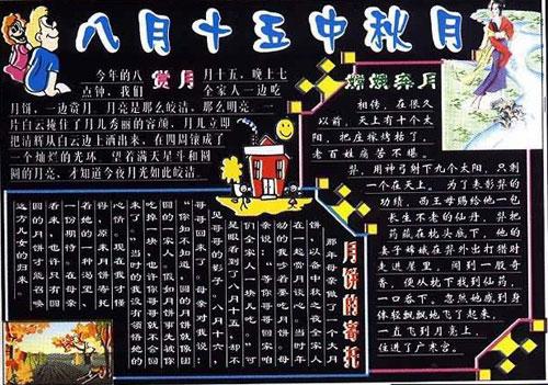 中秋节黑板报——赏月_20字图片