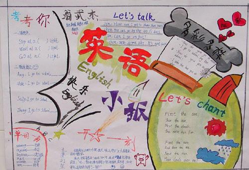 小学英语手抄报:快乐英语
