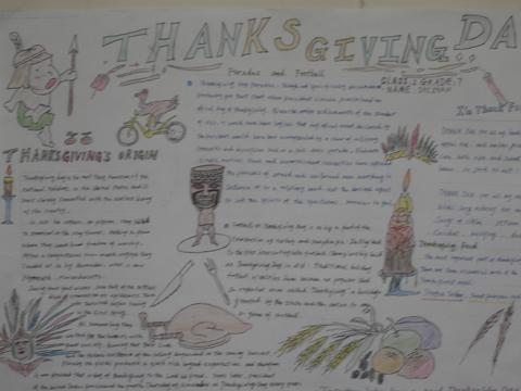 感恩英语手抄报:感恩节的故事