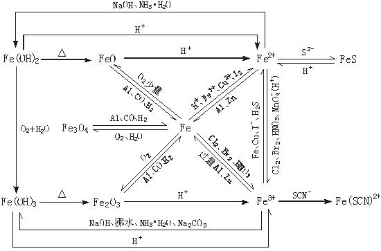 2011年高考化学知识网络结构图:2.元素与化合物