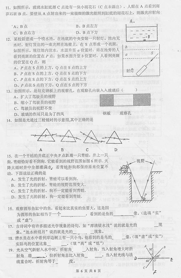 初二物理光现象总结手抄报
