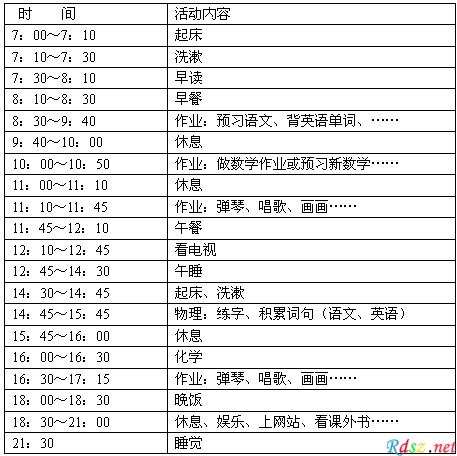 淘宝免费模板 > 小学生周末作息时间表【相关词_ 小学生周末作息表】
