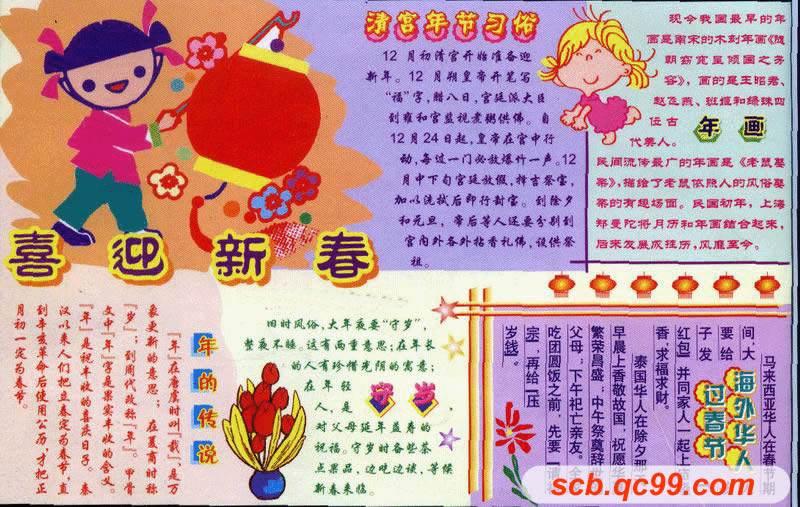 春节手抄报_有关春节手抄报图片|内容|版面设计图大全图片