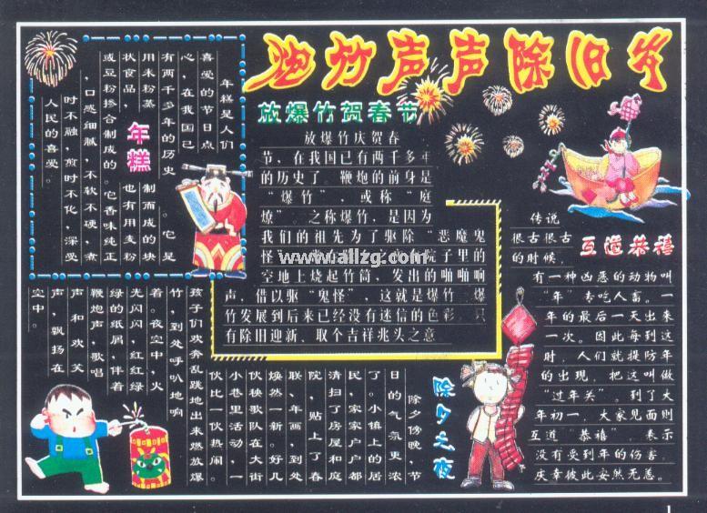 春节黑板报 17