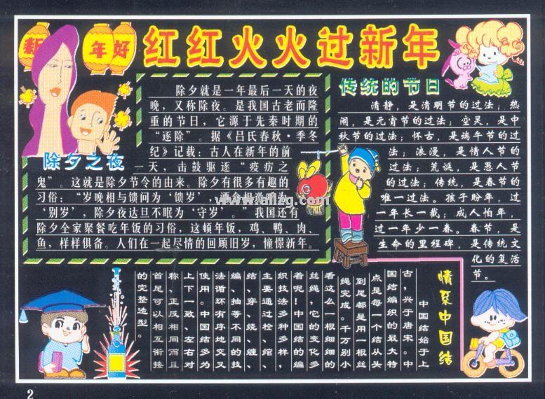 春节黑板报 18