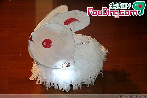 元宵花灯制作 兔子纸灯手工制作图解