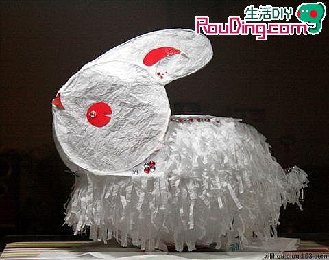 元宵花灯制作:兔子纸灯手工制作图解(2)