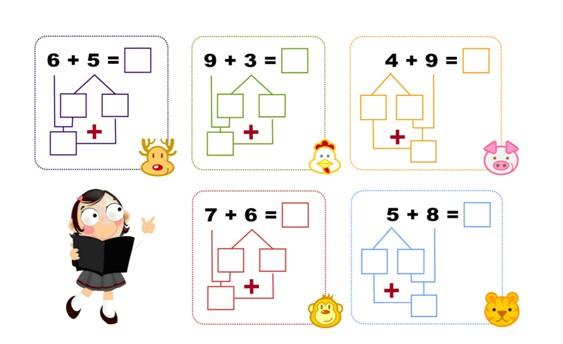 第4讲:数学活动; 一年级数学下册竖式计算 (10; 一年级数学生活小报