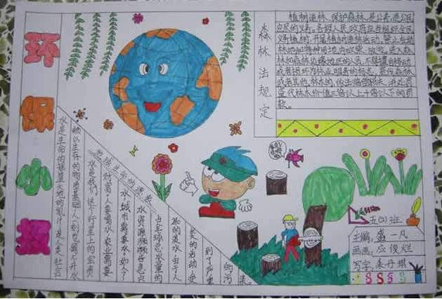 世界环境日手抄报——环保小报_20字