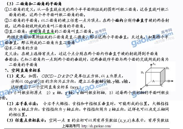 上海中考知识点_高一数学必修知识点(二)(附word下载版)(6)_高考网上海分站