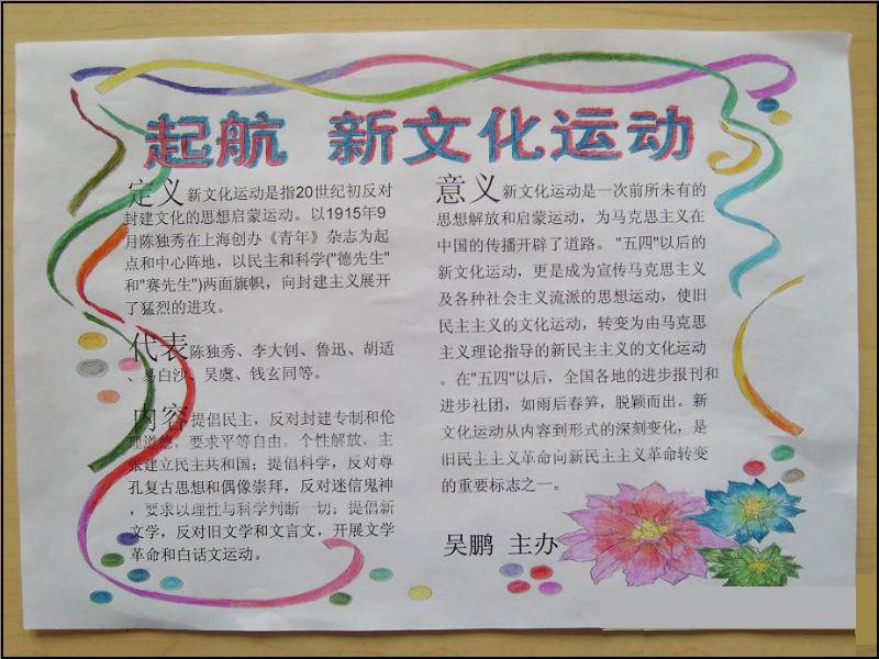 建党节手抄报——新文化运动_20字