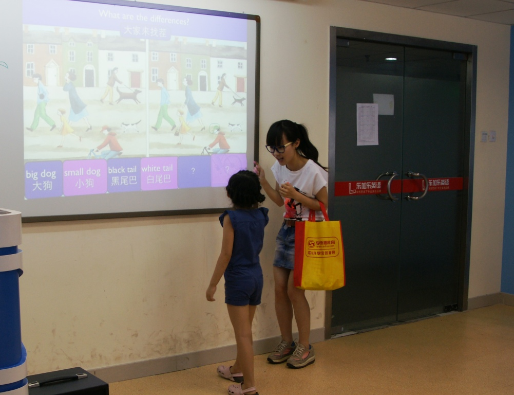 孩子们学习单词与句子!        乐加乐少儿英语微课堂
