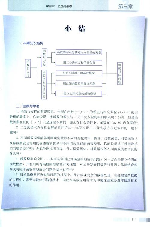 高一数学电子课本:高一数学必修1 第三章 小结