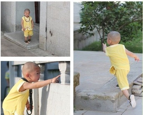 看中国现下最小最萌最可爱的小和尚(组图)