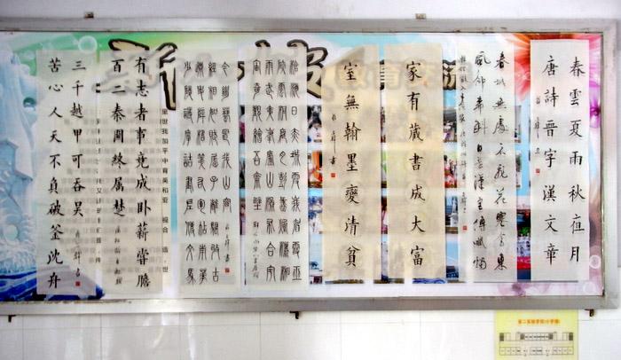 吉林省二实验小学生书法展