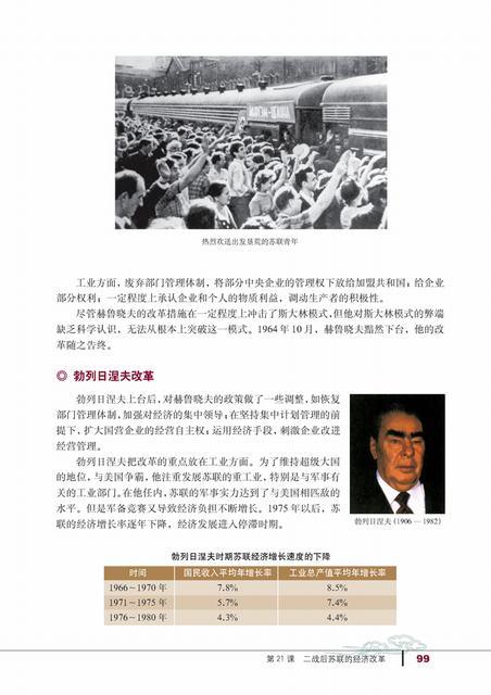 高一历史新课标电子书:二战后苏联的经济改革