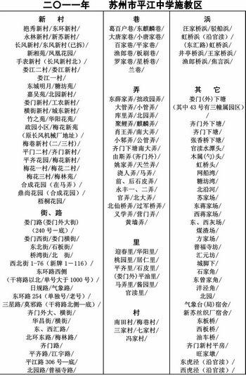 平江中学施教区