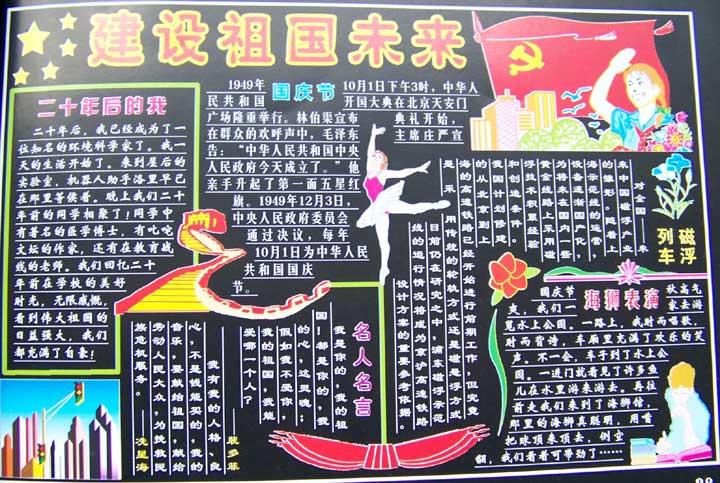 关于国庆节的黑板报_国庆节班级_特点网小学生抄报奥数专题的手介绍图片