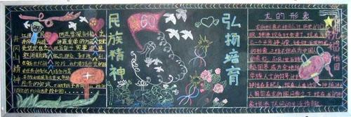 小学生国庆节黑板报图片