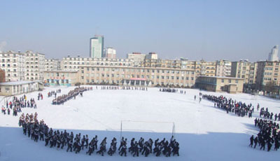 汇文中学风采冬季跑操