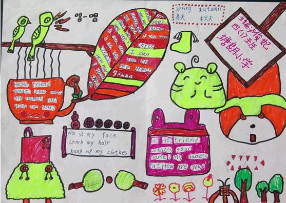 小学三年级英语手抄报 spring