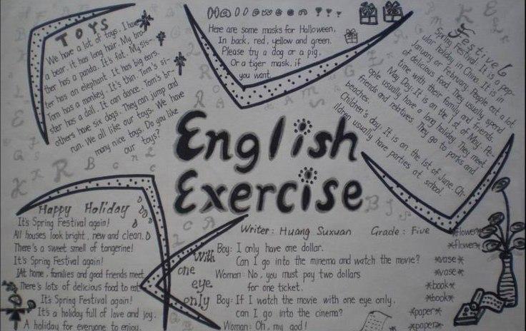 小学英语黑板报资料_小学三年级手抄报英语手抄报内容