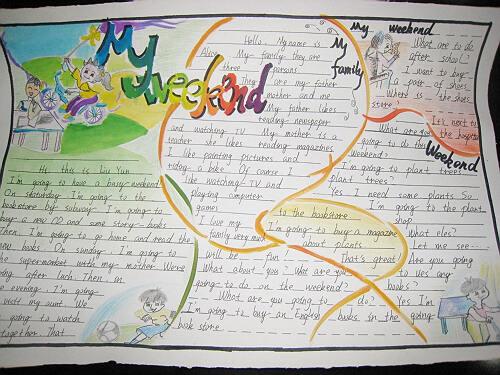 小学五年级英语手抄报:my