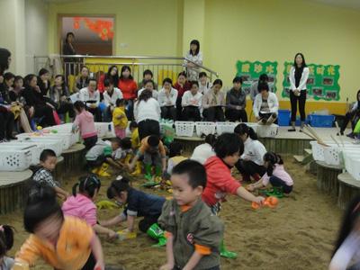 闵行区民办幼儿园观摩研讨玩沙游戏