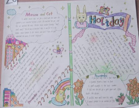 年级六小学英语手抄报小学学习辅导图片