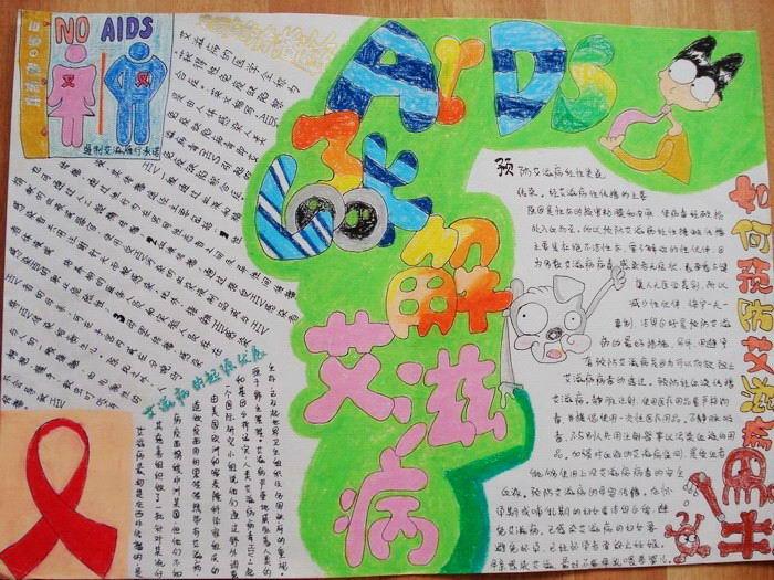 艾滋病手抄报-预防艾滋海报 真人带安全套图图 真人用安全套过程图图片