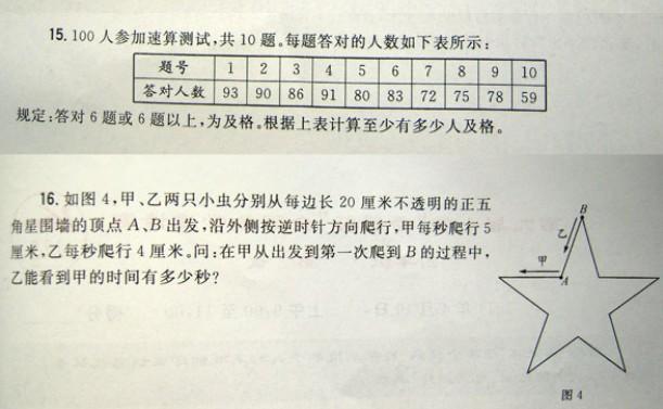 希望杯数学竞赛试题