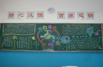 关于节约用水黑板报-南环中学保护水资源系列活动