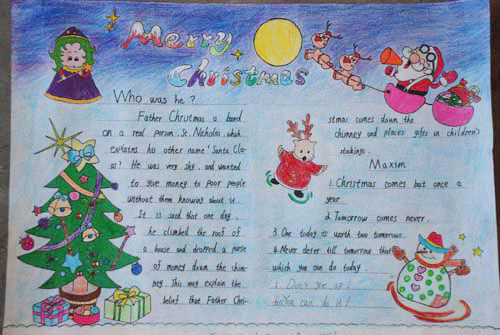 2011圣诞节英语手抄报欣赏(5)
