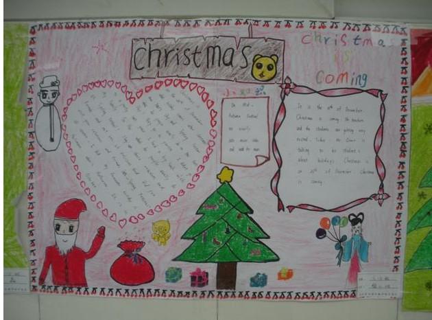 关于圣诞节的英语手抄报